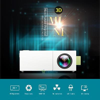 HD1080P Multimedia LED MiNi Projector Home Theater Cinema Video AV USB TV HDMI