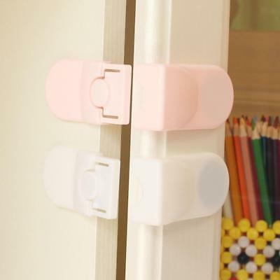 5pcs Phenovo Drawer Cabinet Catches Door Corner Lock Baby Safety Protector Clips