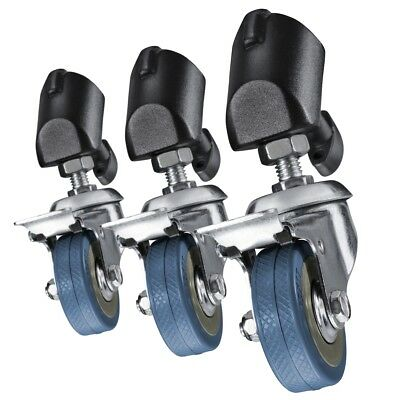 walimex Tripod Wheels Pro, set of 3, for more mobility