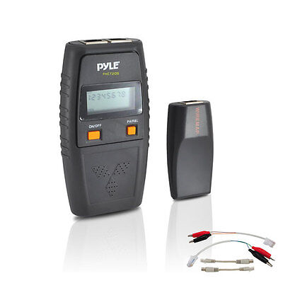 Pyle Meters PHCT205 Network Cable Tester With Test Leads & Open Connection New