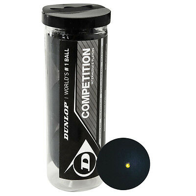 Dunlop Competition Squash Balls - Tube of 3