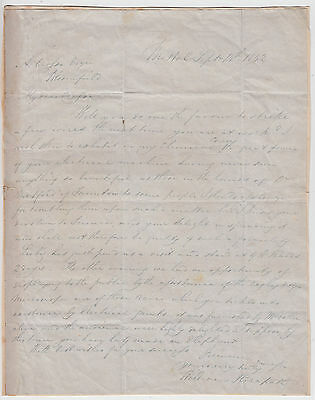 WILLIAM HERAPATH, Electricity Pioneer, autograph letter signed 1842