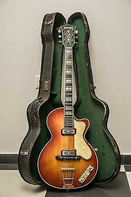 "Hofner Club 50 Serial Number ""1189"" Year 1959 USED ORIGINAL GUITAR Hard Case"