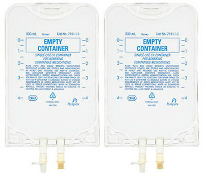 Empty IV Bag Container - 500ml - Pack of 2