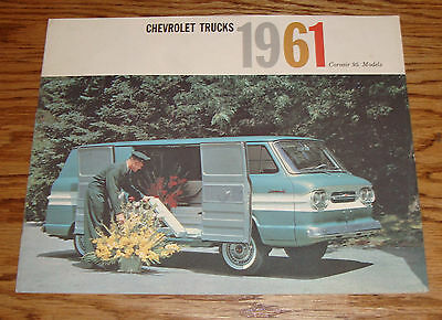 Original 1961 Chevrolet Truck Corvair 95 Models Sales Brochure 61 Chevy
