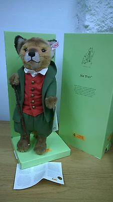 Steiff Bear Beatrix Potter Mr Todd Fox Limited Edition with boxes & Certificate