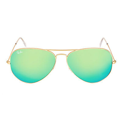 Ray-Ban RB 3025 112-19 62 Unisex Gold Frame Green Flash Sunglass