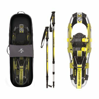 Yukon Charlie's Sherpa Series Snowshoe 8 x 25 Inches, Yellow/ Black | 80-5006K