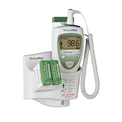 Welch Allyn SureTemp Plus 690 Electronic Thermometer w/ 4' Wall Mount Oral Probe