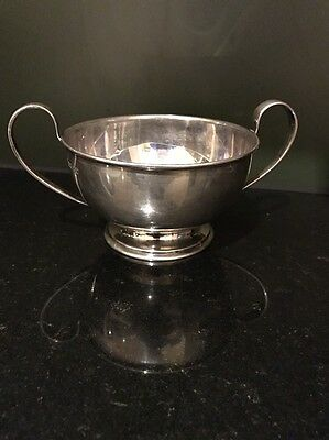 Rare Large  Scottish Solid Sterling Silver Quaich Bowl C 1938 Sorley Glasgow