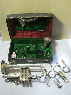 Antique King Coronet H.N. White w/ Extra Mouthpieces Accessories & Hard Case  T*