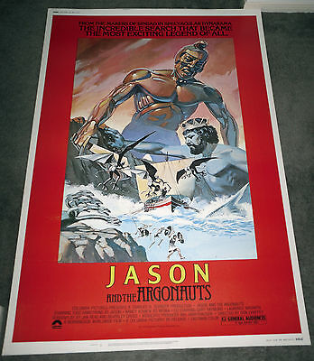 JASON AND THE ARGONAUTS original large 40x60 ROLLED movie poster RAY HARRYHAUSEN