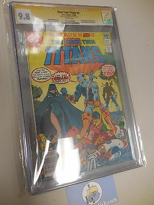 New Teen Titans 2 CGC 9.8 SS signed by George Perez 1st Deathstroke Slade Wilson