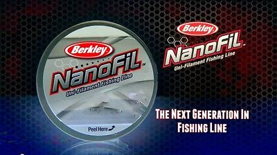 Berkley Nanofil 8 lb 150 yards, Clear Mist,  NEW