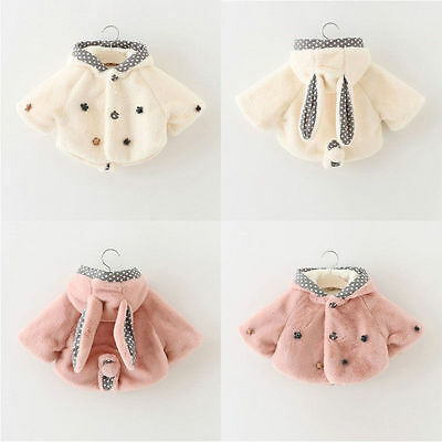 Infant Newborn Girls Thick Soft Outerwear Winter Warm Coat Jacket Kids Outfits