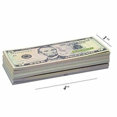 US Play Money One-Sided 30 Bills Of $1, $5, $10, $20, $50, & $100 For Monopoly