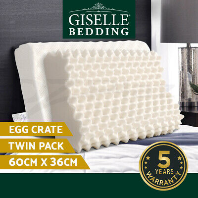 Giselle Bedding Massage 100% Natural Latex Pillow Sleeping Egg Crate Contour