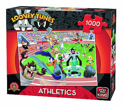 1000 Piece Jigsaw Puzzle Looney Tunes Bugs Bunny Cartoon Sports Athletics 05599