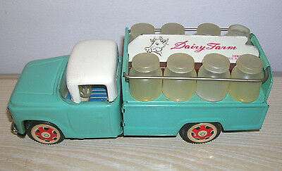 "Red China Tintoy - MILK Truck Lorry "" Dairy Farm "" MF 707 - 60er/70er Jahre"