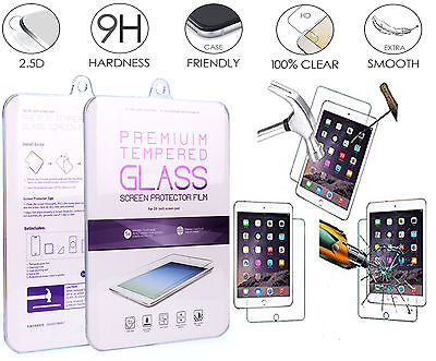 Real Tempered Glass LCD Flim Screen Protector For iPad 2 3 4 5 6 Mini Air 2 Pro