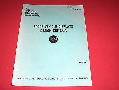 1972 Nasa Report Space Vehicle Displays Design Mercury Gemini Apollo Raumfahrt