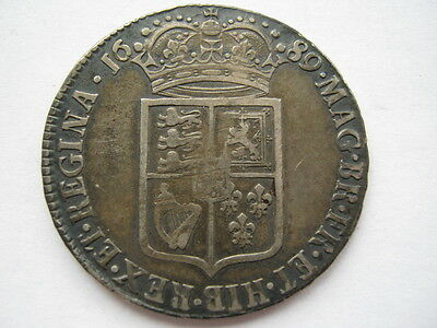 1689 William and Mary Half Crown NVF ESC 505