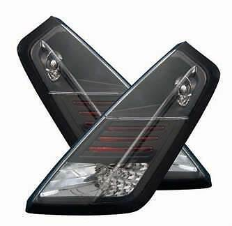 Fiat Grande Punto 2006-2011 Black Led Lexus Rear Tail Lights Lamps Pair
