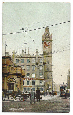 GLASGOW CROSS Tolbooth Steeple, Old Postcard Unused