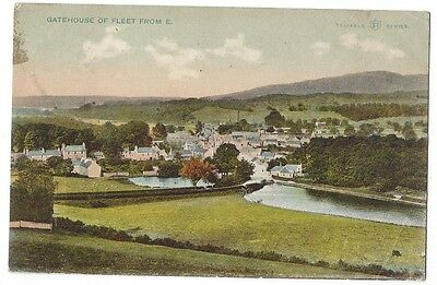 GATEHOUSE OF FLEET View from East, Postally Used Postcard 1905, Reliable Series