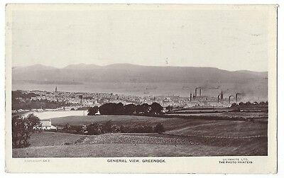 GREENOCK General View, RP postcard by Lilywhite, Postally Used 1924