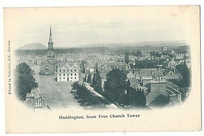 HADDINGTON From Free Church Tower, Early Valentine Postcard, Undivided Back