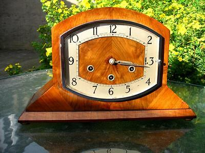 Antique Art Deco Westminster Mantel Clock By Haller Running But Requires Work
