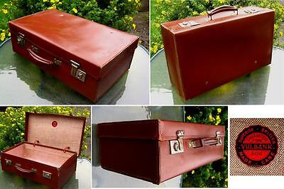 Art Deco Suitcase 1930's Vulcanbank 206 Superior British Made Case Leatherette