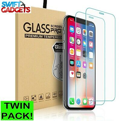 100% Genuine Tempered Glass Film Screen Protector For Apple iPhone 7 - NEW