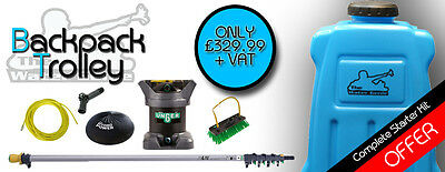 Watergenie Backpack 20L Window Cleaning Kit Unger Pole 20ft DI System