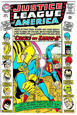 JUSTICE LEAGUE OF AMERICA #38 (FN+) JSA Appearance! Crisis on Earth-A! Classic
