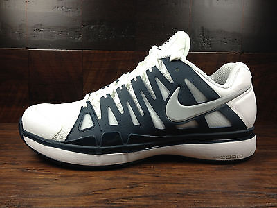 Nike Zoom Vapor 9 Tour (White / Navy Blue) Federer Tennis [488000-104] Men 7.5