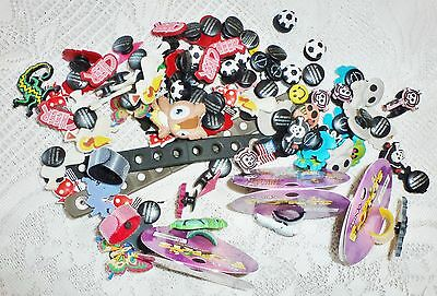 HUGE Lot 100+ New Charms for Shoes/Crocs + Floppets Rings & 2 Bracelets CHEAP!