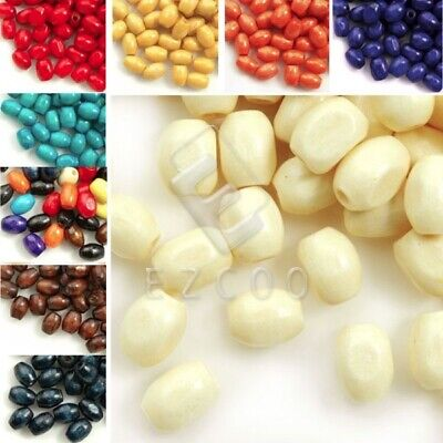 30g 690pcs Approx Rice Wood Beads Spacer Loose Beads 6x4mm Jewelry Makings CF