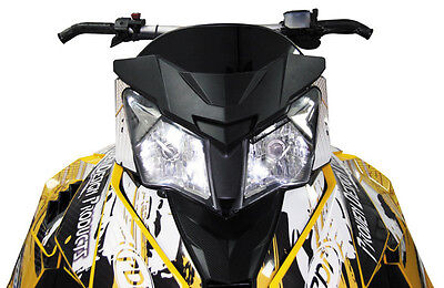 PDP Snowmobile Low Cut Windshield Black For Ski-Doo Rev XM XS 13-16 WS-SDXMS-BLK