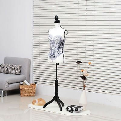 LED Female Mannequin Torso Dress Form Display Designer Patten Black Tripod Stand