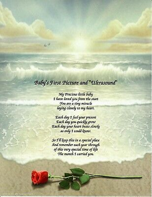 Baby Boy Baby Girl Poem Personalized Name ULTRASOUND BABIES DON'T KEEP, BLESSING
