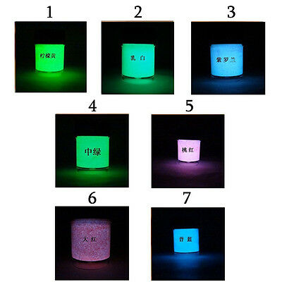 10ml 7-Color Luminous Paint Pigment Glow Powder Luminescent Party Makeup MO