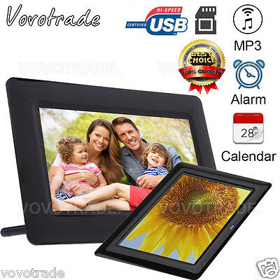 7inch HD LCD Slideshow Digital Photo Frame with Alarm Clock Calender MP3 Player