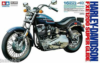 Tamiya 16039 1/6 Scale Motorcycle Model Kit Harley-Davidson Super Glide FXE-1200