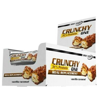 (23,29 €/KG) Best Body Nutrition Chrunchy One Display 20 x 60g div Sorten NEU