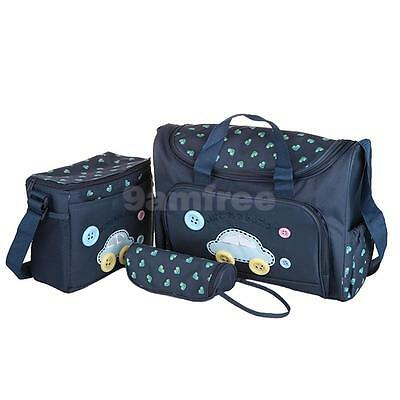 4Pcs/Set Baby Mummy Tote Handbag Waterproof Diaper Nappy Changing Bag