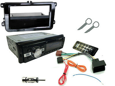 SKODA OCTAVIA 2009-20013: Stereo Head Unit Radio Kit. Bluetooth USB MP3 AUX SD