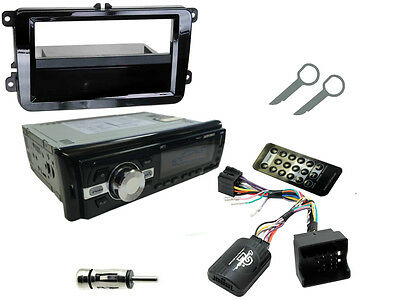 VW PASSAT (B5/B6) 05-15: Stereo Head Unit Radio Kit Bluetooth + Steering Control
