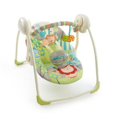 Bright Starts Up and Away Portable Swing with 6 Speed Motor Action